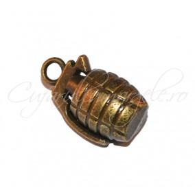 Charm bronz grenada 22x13 mm
