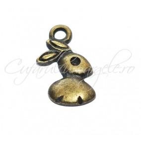 Charm bronz iepuras 17x10 mm