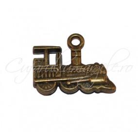 Charm bronz locomotiva 22x17 mm