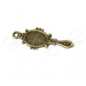 Charm bronz oglinda 27x10 mm