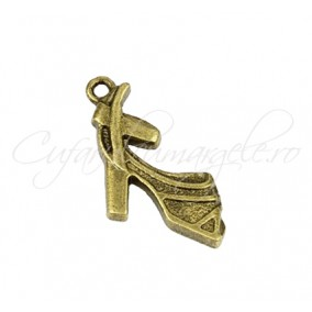 Charm bronz pantof 20x18 mm
