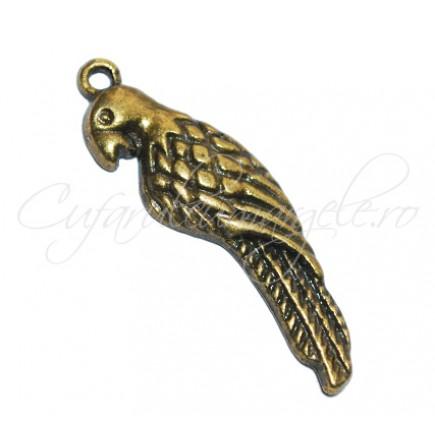 Charm bronz papagal 35x11 mm
