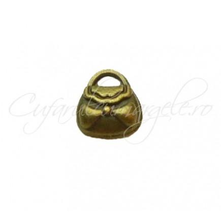 Charm bronz poseta 8x7 mm