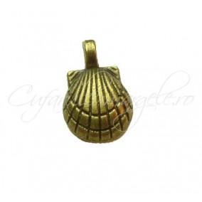 Charm bronz scoica 15x10 mm