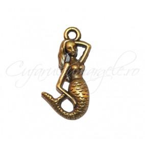 Charm bronz sirena 23x12 mm