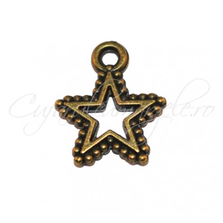 Charm bronz stea 18x15 mm