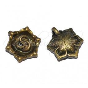 Charm bronz trandafir 20x17x5 mm