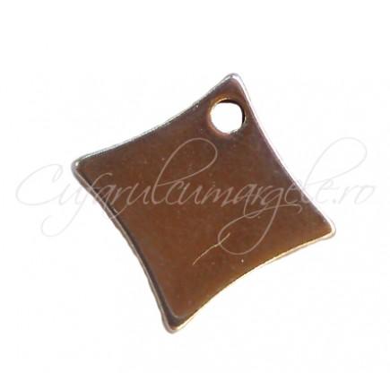 Charm inox romb margini curbate 9 mm