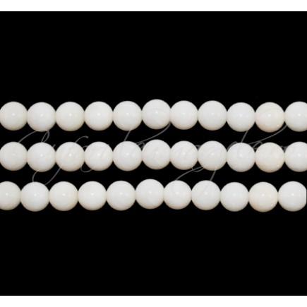 Coral alb sferic 4 mm