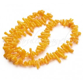 Coral galben chips colti 9-14mm sirag 40cm