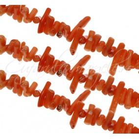 Coral oranj chips colti 9-14mm sirag 40cm