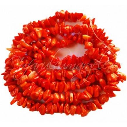 Coral portocaliu chips 8-10mm sirag 80cm