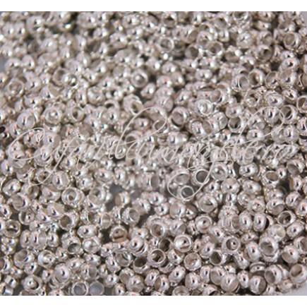 Crimp rotund 2,5 mm gri argintiu