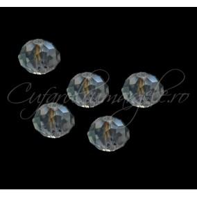 Cristal disc alb 10x8 mm