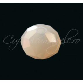 Cristal disc alb opal 10x8 mm