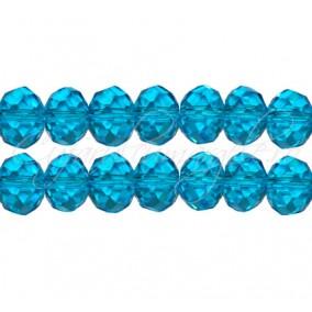 Cristal disc albastru azur 12x9 mm