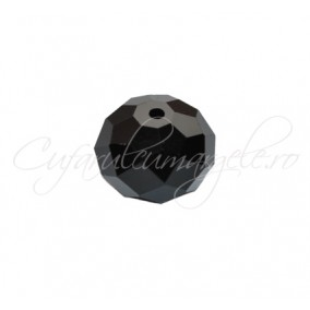 Cristal disc negru 10x8 mm