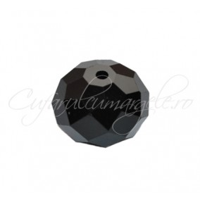Cristal disc negru 12x9 mm