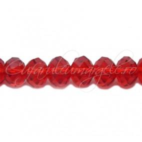 Cristal disc rosu 12x9 mm