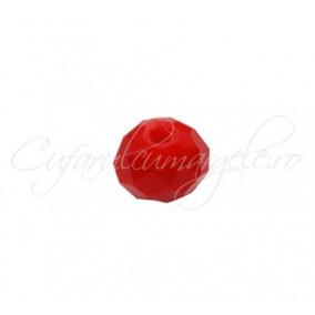 Cristal disc rosu mat 10x8 mm