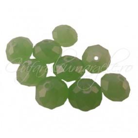 Cristal disc verde jad 10x8 mm