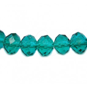 Cristal disc verde smarald 10x8 mm