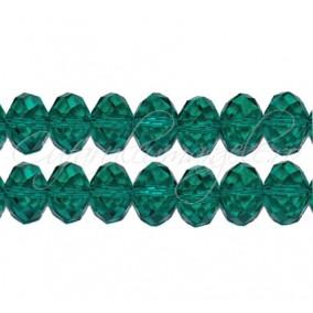 Cristal disc verde smarald 12x9 mm