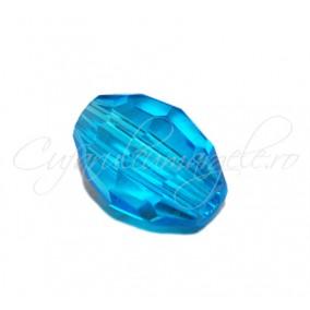Cristal oval bleu azur 8x6 mm
