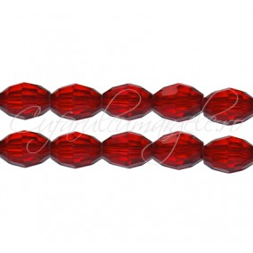 Cristal oval rosu rubin 10x8 mm