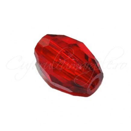 Cristal oval rosu rubiniu 8x6 mm
