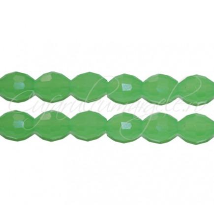 Cristal oval verde jad 8x6 mm