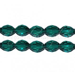 Cristal oval verde smarald 10x8 mm