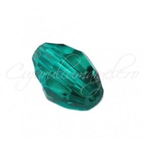 Cristal oval verde smarald 8x6 mm