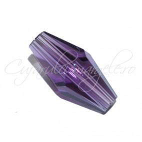 Cristale biconice fusiforme mov ametist 12mm