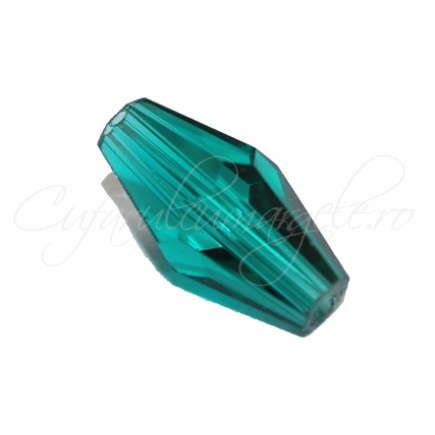 Cristale biconice verde smarald 12 mm