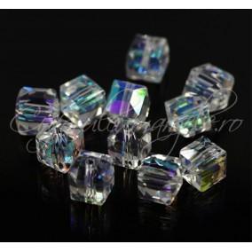 Cristale cub alb efect AB 5 mm