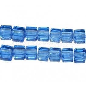 Cristale cub bleu cenusiu 4 mm