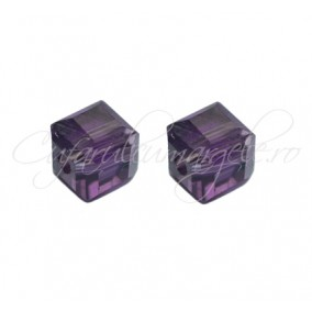Cristale cub mov ametist 4 mm