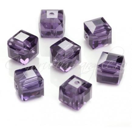 Cristale cub mov ametist 5 mm