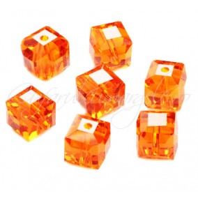 Cristale cub portocaliu 5 mm