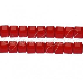 Cristale cub rosu mat 5 mm