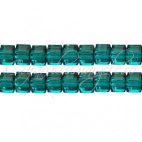 Cristale cub verde smarald 5 mm