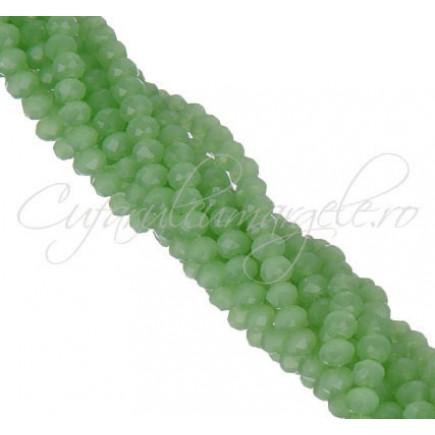 Cristale disc 6x4mm dark verde jad sirag