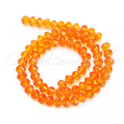 Cristale disc 6x4mm oranj sirag