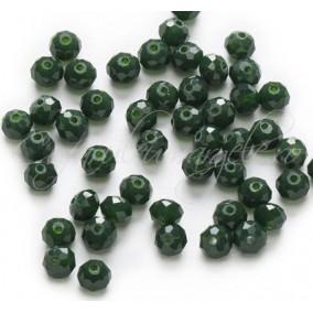 Cristale disc 6x4mm verde opac sirag