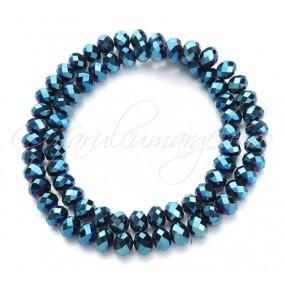 Cristale disc 8x6mm albastru metalizat sirag