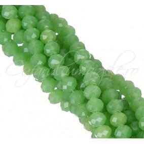 Cristale disc 8x6mm dark verde jad sirag