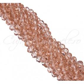 Cristale disc 8x6mm roz piersica sirag