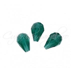 Cristale lacrima verde smarald 15x10 mm