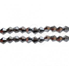 Cristale sirag biconice argintiu 4x3 mm